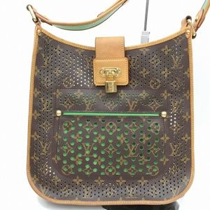 Auth Louis Vuitton Musette Perforated #1444L80